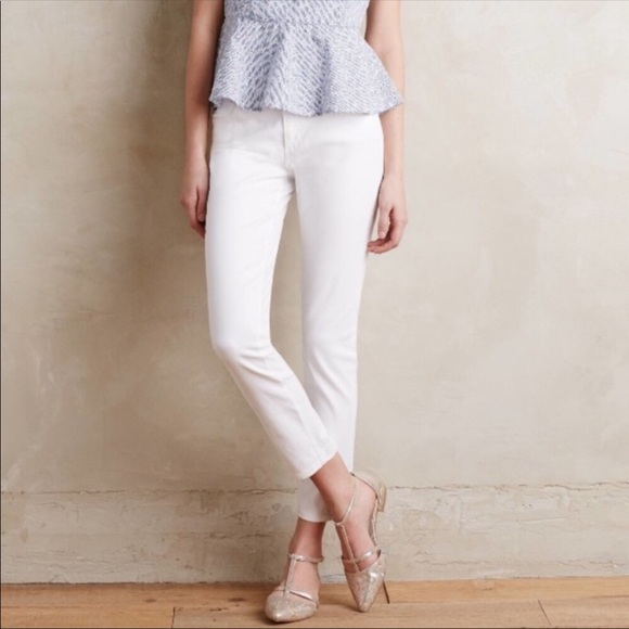 Ag Adriano Goldschmied Denim - AG Adriano Goldschmied Stevie Ankle White Jeans
